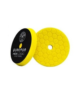 "Chemical Guys Hex Logic Quantum Heavy Cutting Pad yellow 6.5""- burete putere mare de taiere"